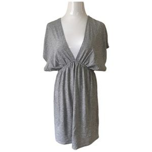 Exhilaration gray v neck dress size M